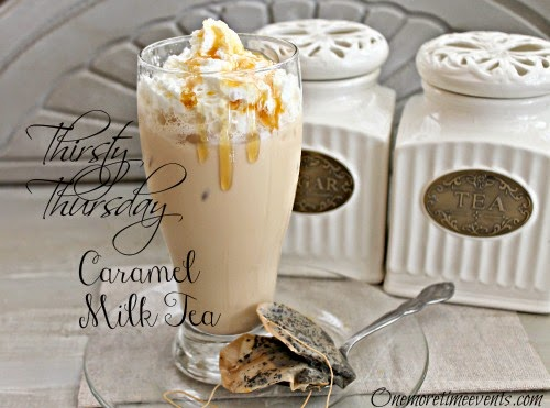 Vintage, Paint and more... One More Time Events Caramel Milk Tea
