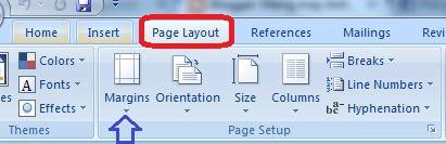Hướng dẫn cách căn chỉnh lề trong Word 2007, 2003, 2010, 2013, Page layout page setup margin