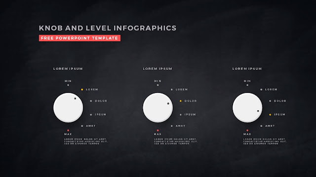 Free Infographic PowerPoint Templates with Knob and Business Level Slide 4