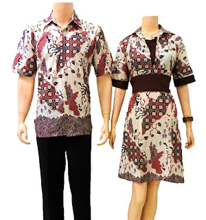 Gambar Batik Sarimbit Gamis Bgs Ungu Model Baju Batik Gamis Batik
