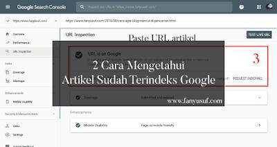 2 Cara Mengetahui Artikel Sudah Terindeks Google