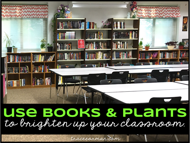 Use books & plants to brighten up your secondary classroom Read more: www.traceeorman.com