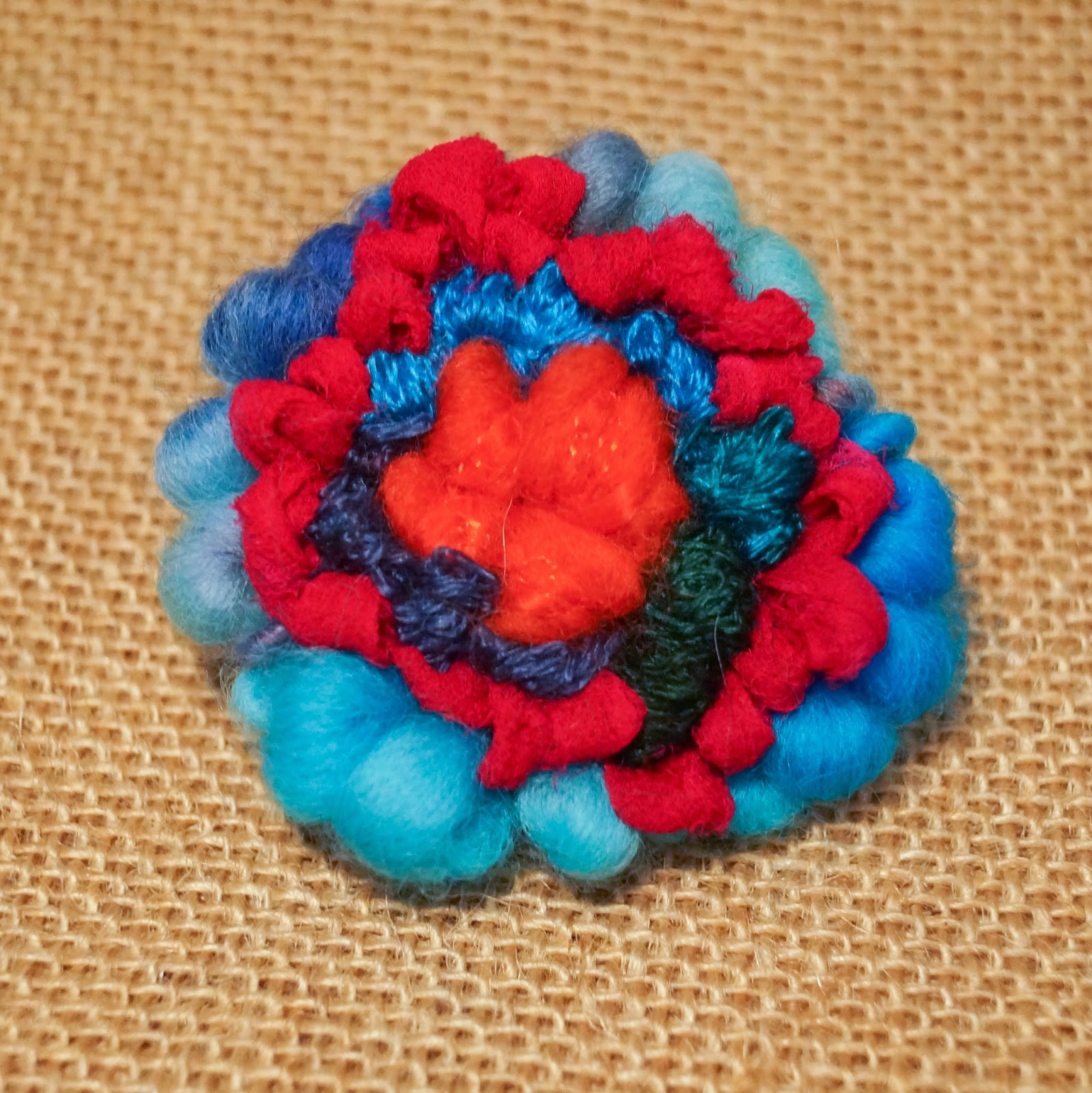 Buttons And Paint...: ... And Making A Rag Rug Brooch