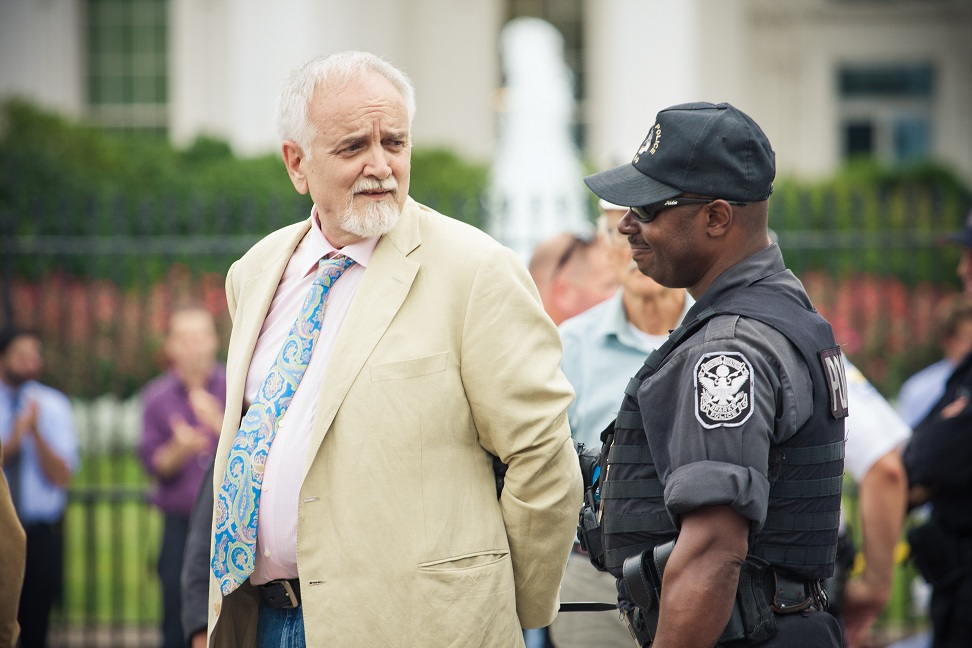 David Wilson arrested protesting Keywtone XL tar sands pipeline