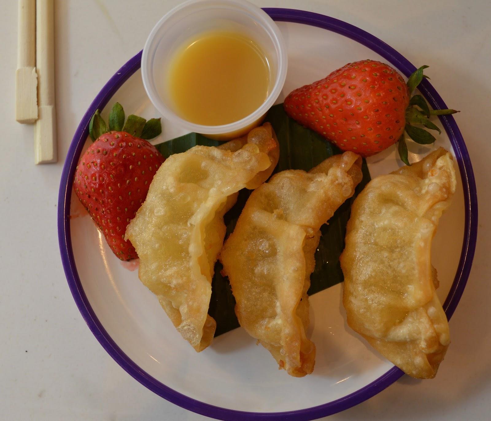 YO! Sushi Newcastle Grainger Street - Kids Menu Review - Apple Gyozo