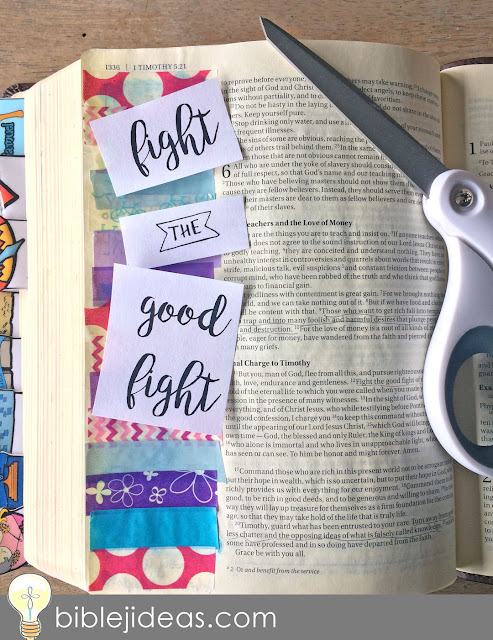Fight the good fight with washi tape! :)