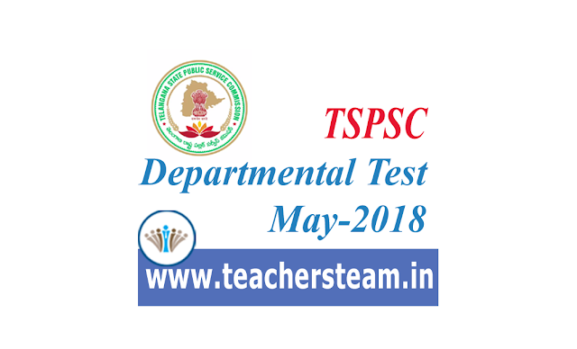 TSPSC Departmental Test may-2018