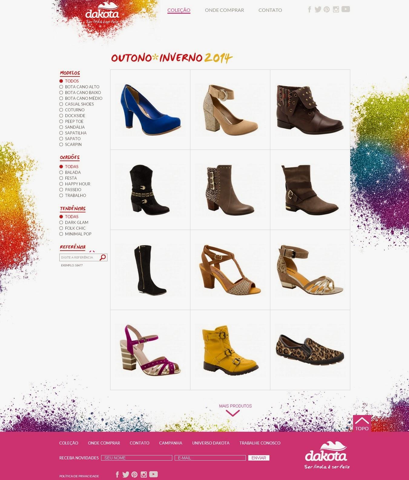 ba8add9b4d Dakota apresenta novo site e campanha. Marca lança coleção outono-inverno  ...