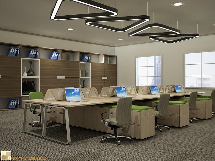 Mẫu thiết kế văn phòng hiện đại tạo không gian nhẹ nhàng, thanh thoát