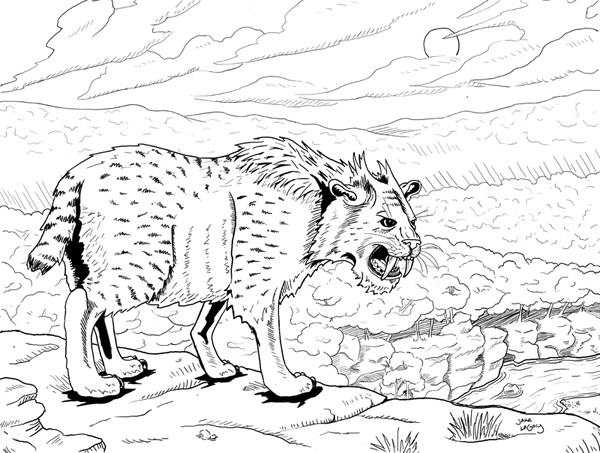 Jake LaGory- illustrator: Cryptozoology Coloring Book