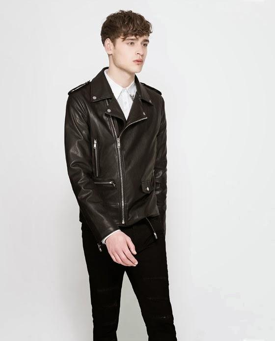6 Moda Zara Jackets 2014 For Men Faux Leather Biker Jacket