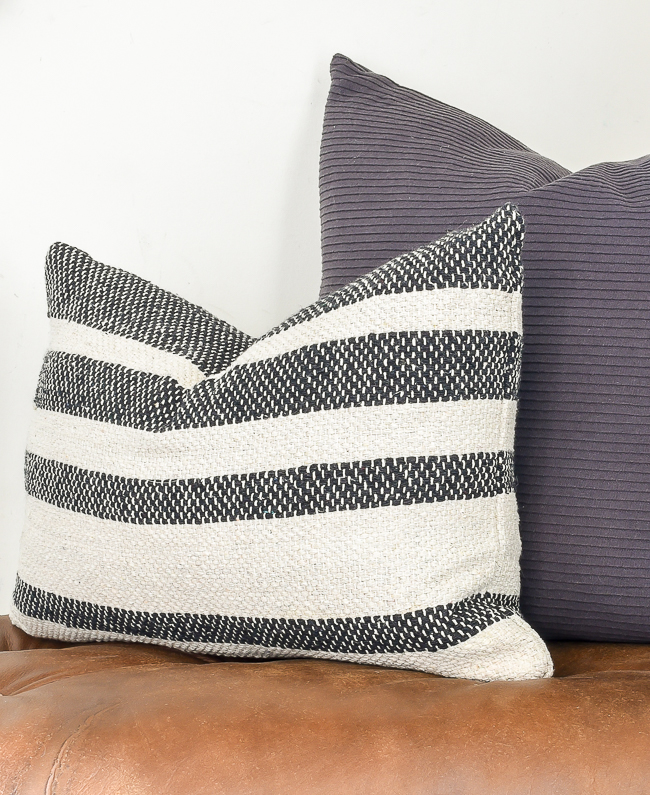Textured throw pillow from a $5 rug
