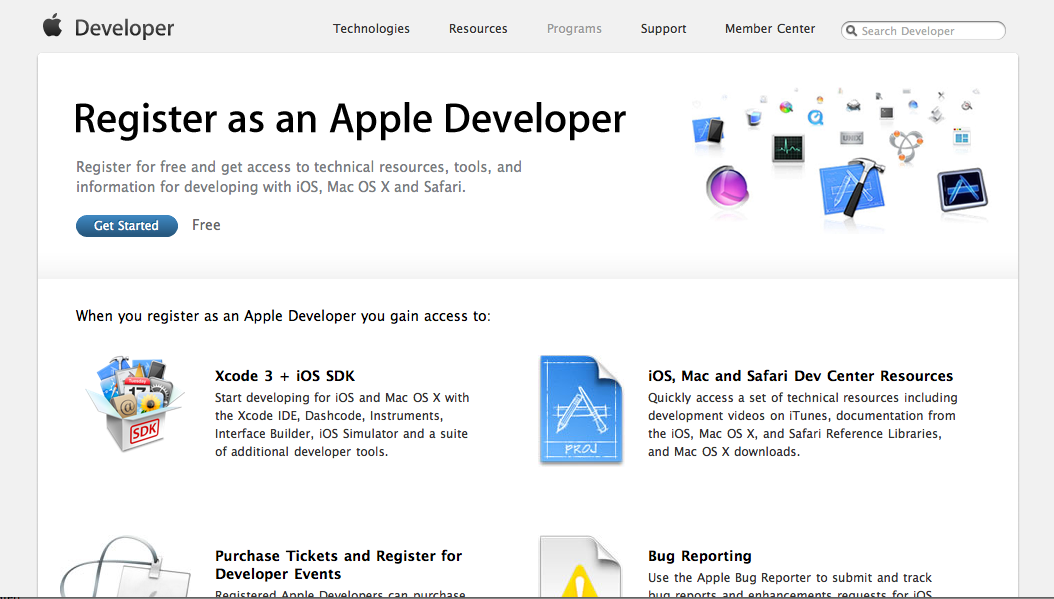 iPhone/iPad Application Development: Get Apple Developer