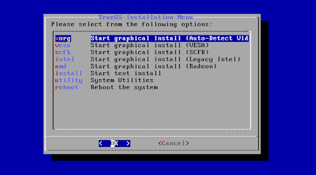 GUIかテキストのどちらかのインストーラーを選びます