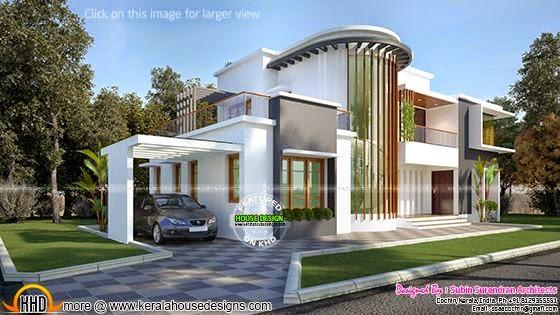 New Modern Villa Plan Kerala Home Design Bloglovin
