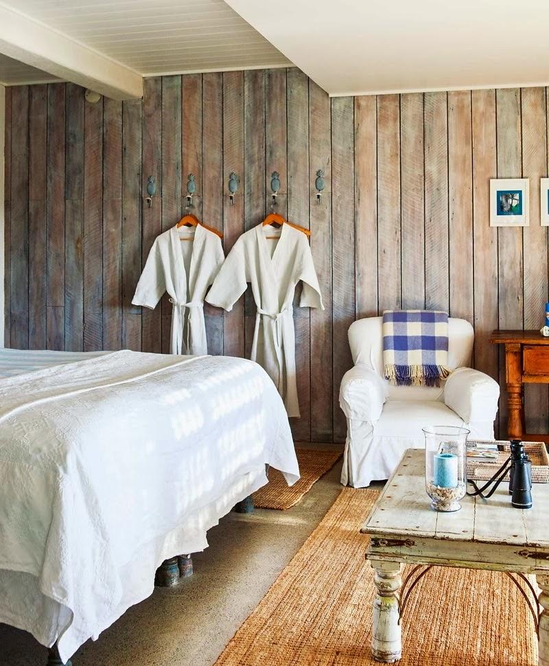 Domek przy plaży w Nowej Zelandii, wystrój wnętrz, wnętrza, urządzanie domu, dekoracje wnętrz, aranżacja wnętrz, inspiracje wnętrz,interior design , dom i wnętrze, aranżacja mieszkania, modne wnętrza, domek wakacyjny, sypialnia