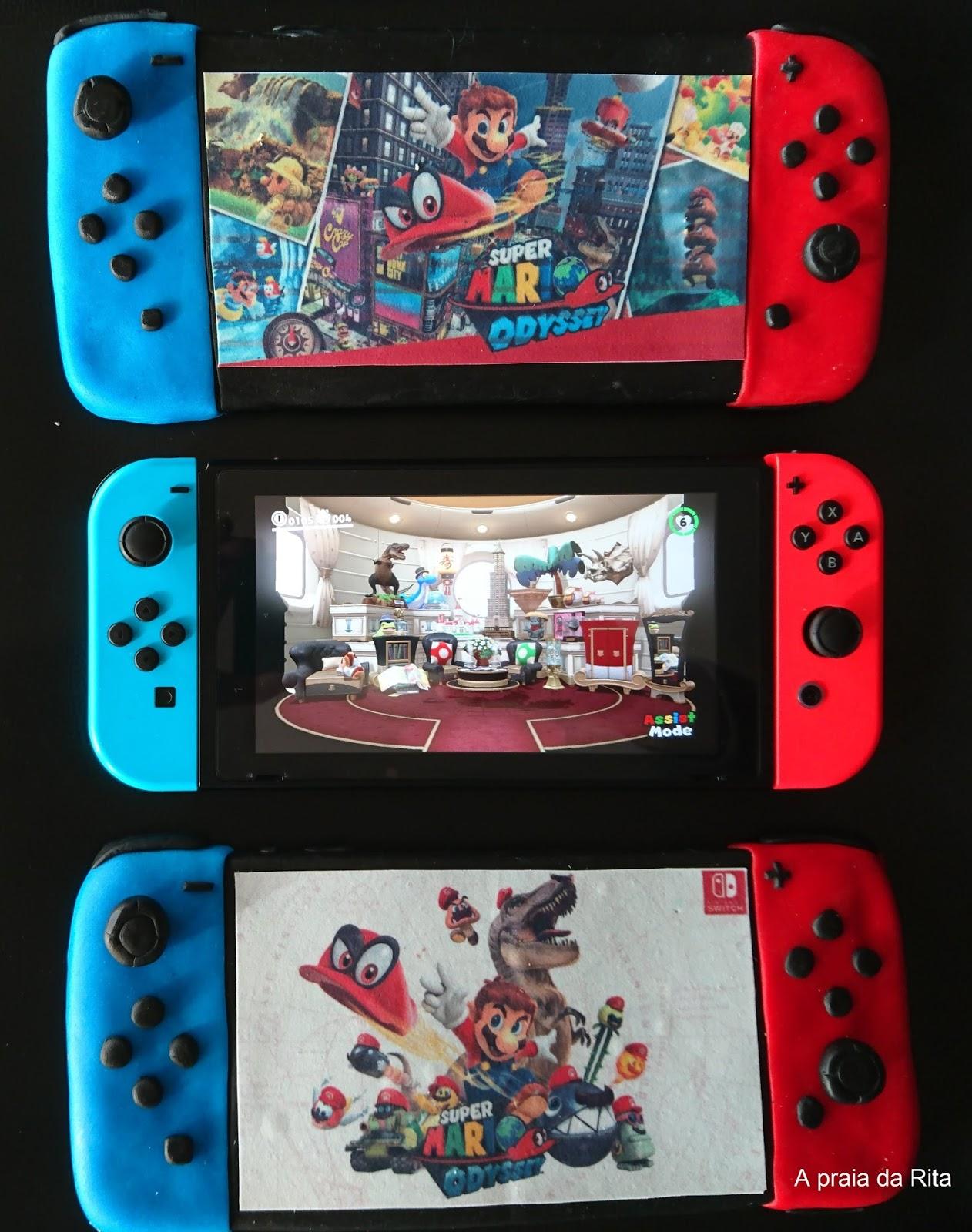 A Praia Da Rita Bolo Nintendo Switch Super Mario Odyssey Switchsuper