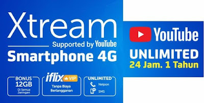 Paket Internet XL Streaming Youtube 2021 Unlimited 24 Jam