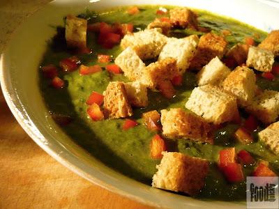 Supa crema de spanac cu morcovi