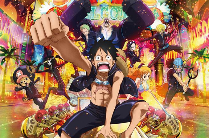 One Piece Film: Gold – ini bercerita tentang perjalanan kelompok Topi Jerami ke Gran Tesoro, sebuah kota penuh dengan hiburan.