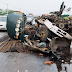 Trailer Crashes Into A Truck Along Lekki Epe Expressway In Lagos Kills 2 (Photos)