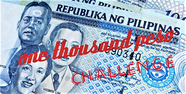 #OnlyOneTutuban 1000-peso Challenge