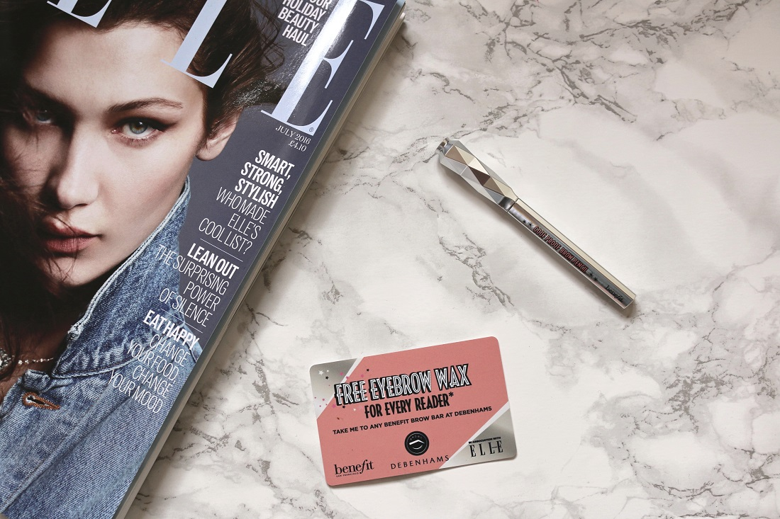 Benefit Goof Proof Brow Pencil with ELLE UK Magazine