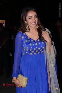 Telugu Actress Tejaswi Madivada Pos in Blue Long Dress at Nanna Nenu Na Boyfriends Audio Launch  0028.JPG
