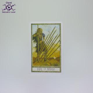 The Druid Craft Tarot - 9 of Wands