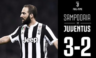 Sampdoria vs Juventus 3-2 Video Gol & Highlights