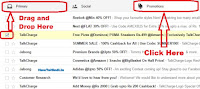 how to move emails from promotions to primary in gmail