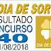 Resultado do Dia de Sorte concurso 40 (21/08/2018)