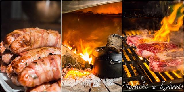 Grillseminar Steingrobe Steak Wurst Feuer Flammen