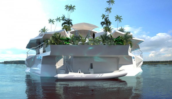 Orsos moveable island boat