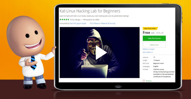 [100% Off] Kali Linux Hacking Lab for Beginners| Worth 45$