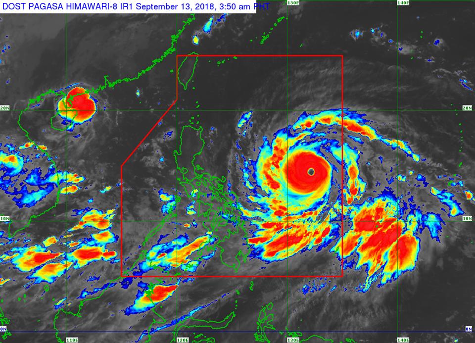 Satellite image of Typhoon Ompong (Mangkhut) as of 3:50 am, September 13