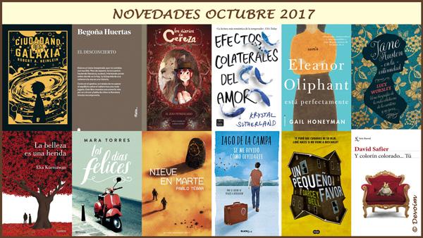 Selección de novedades editoriales del blog Deja volar tu imaginación [octubre 2017]