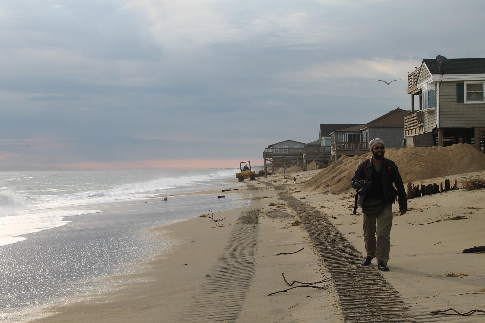 Hurricane Sandy And The Beach Along Kitty Hawk North Carolina