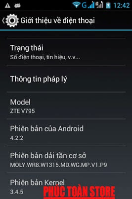 Rom gốc tiếng Việt ZTE V795 alt