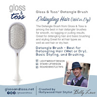 Detangle Brush from Gloss & Toss