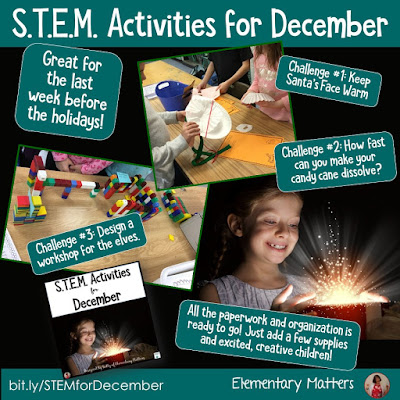 Wondering what will keep them engaged the last week before Christmas? Here are some ideas freebies, and resources that will keep even the most rambunctious children engaged!