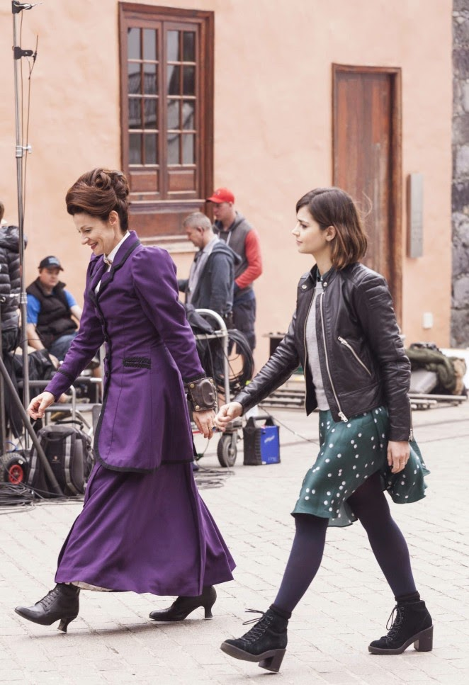 """Jenna Louise Coleman on the set of """"Doctor Who"""""""