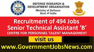 Defence Research And Development Organization DRDO Recruitment 2018