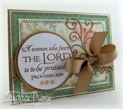 "Our Daily Bread designs ""Scripture Collection 4"" Customer Card of the Day Candace Pierce"