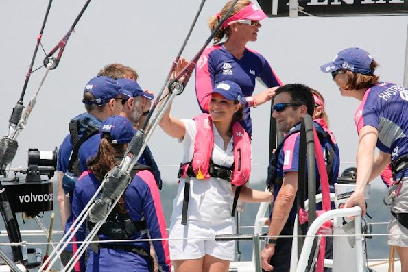 Princess Victoria attends Volvo Ocean Race in Portugal - Day 2
