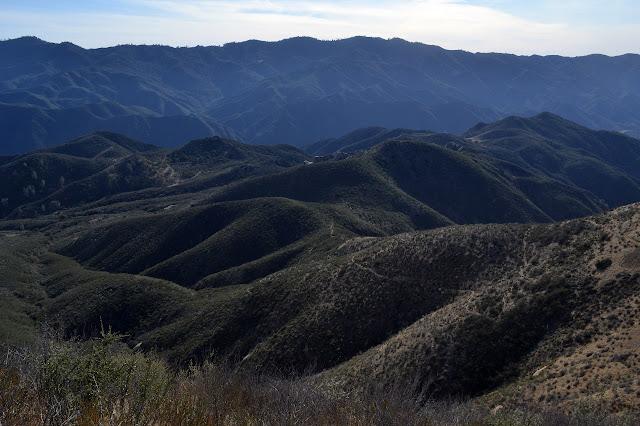 long way down Potrero Canyon