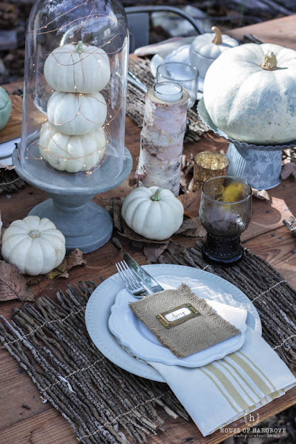 Thanksgiving Harvest Table Setting