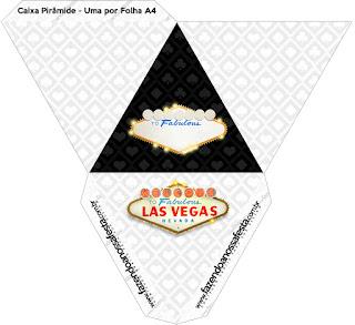 Caja con forma de pirámide de Fiesta de Las Vegas.