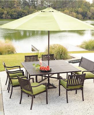 meja makan payung taman elegan