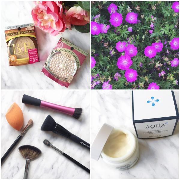 bbloggers, bbloggersca, beauty blogger, skincare, aqua pm zero cream, flowers, physicians formula bronze booster